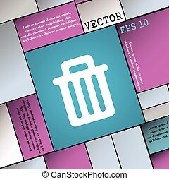 Recycle bin icon sign. Modern flat style for your design. Vector
