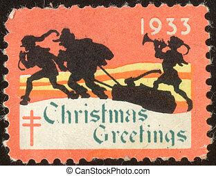 vintage postage stamp set seventy six - The scanned stamp...