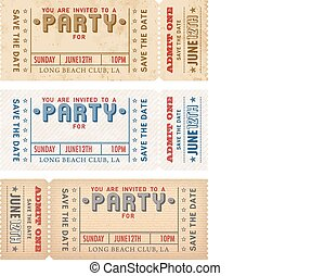 Vector Grunge Party Invites