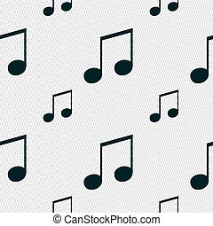 musical note, music, ringtone icon sign Seamless pattern...