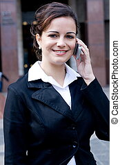 young businesswoman - a smiling young businesswoman on...