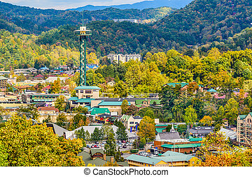 Gatlinburg Tennessee - Gatlinburg, Tennessee, USA townscape...