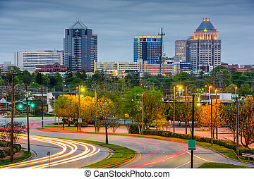 Greensboro Skyline - Greensboro, North Carolina, USA...