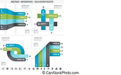 Cold Colors Abstract Infographics