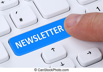 Subscribing newsletter on internet for business marketing...