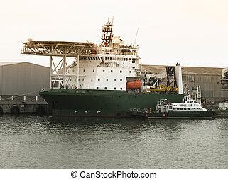 Offshore supply ship at Walvis Bay, Namibia