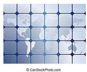 Background with maps of world