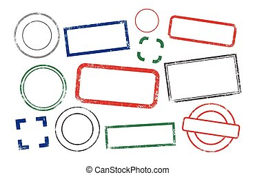 Stamps frames - Vector collection of different shapes of...