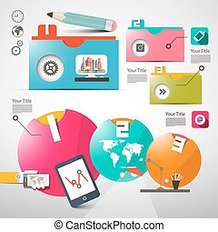 Paper Infographics Layout - Web Design or Brochure Template...