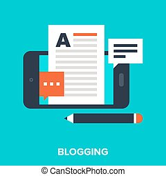 mobile blogging - Abstract vector illustration of mobile...