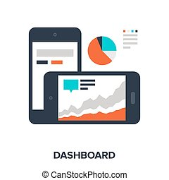 dashboard - Abstract vector illustration of dashboard flat...