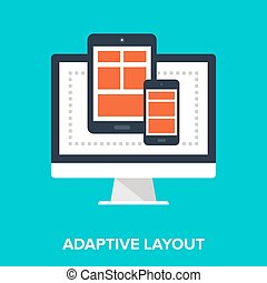 Responsive Design - Abstract vector illustration of...
