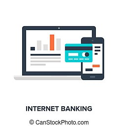 internet banking - Abstract vector illustration of internet...
