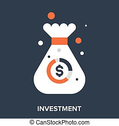 investment - Abstract vector illustration of investment flat...