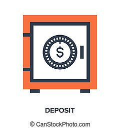 deposit - Abstract vector illustration of deposit flat...