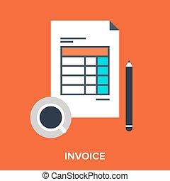 invoice - Abstract vector illustration of invoice flat...
