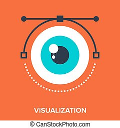 visualization - Abstract vector illustration of...