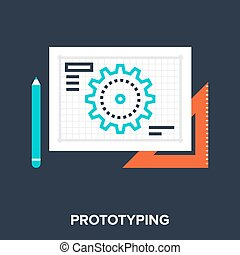 prototyping - Abstract vector illustration of prototyping...