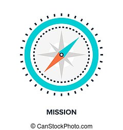 mission - Abstract vector illustration of mission flat...