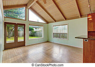 Nice Dinning room with green walls. - Nice dinning room with...