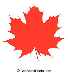 maple leaf red - Silhouette of the maple leaf. Canadian...