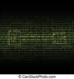Abstract tech binary security green background