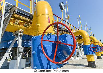 Gas compressor station