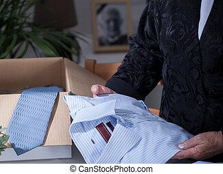 Shirt is a souvenir - Dead husbands shirt is reminding about...