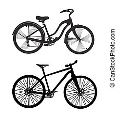 Bicycle Silhouette. Vector Illustrator