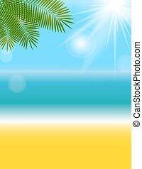 Summer Natural Background Vector Illustration