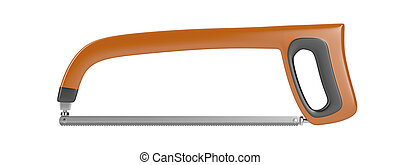 Hacksaw isolated on white background