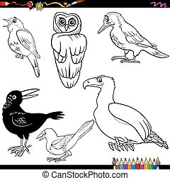birds cartoon coloring page - Coloring Book Cartoon...