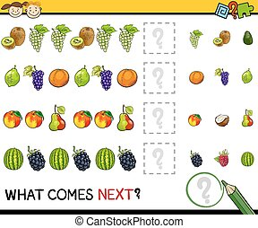 what comes next game cartoon - Cartoon Illustration of...