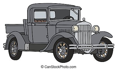 Vintage pick-up - Hand drawing of a vintage pick-up - not a...
