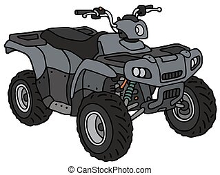 Blue all terrain vehicle - Hand drawing of a blue all...