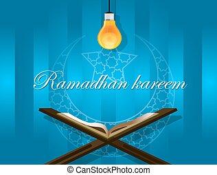 islam read quran bulb koran ramadan kareem mubarak - islam...