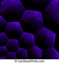 Abstract blueberry colored art.
