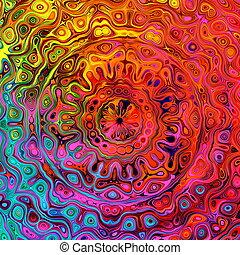 Square shape image. Unique pattern.