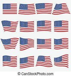 vector american flag icon
