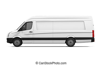 Delivery Van Isolated - Delivery Van isolated on white...