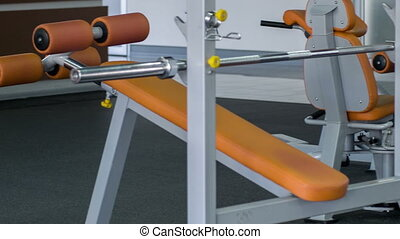 Sport iron equipment in gym for real sportsman - Many...