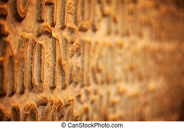 Inscriptions of Synod Synod decisions, Istanbul - Close-up...