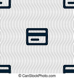 credit card icon sign. Seamless pattern with geometric texture. Vector