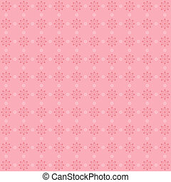 Retro floral patten in pastel tones - Retro floral patten in...