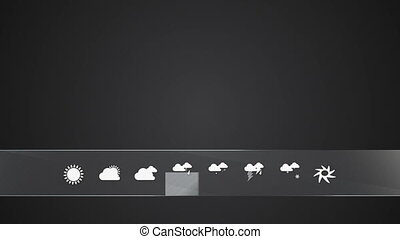 Rainy, Weather icon set animationincluded alpha