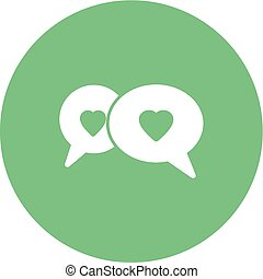 Chat Bubbles - Chat, talk, communication icon vector...