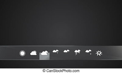 Cloudy, Weather icon set animationincluded alpha
