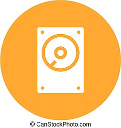 Hard Disk - Hard disk, drive, hdd icon vector image. Can...