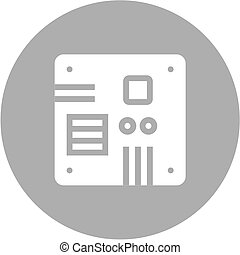 Motherboard, computer, circuit, board icon vector image Can...