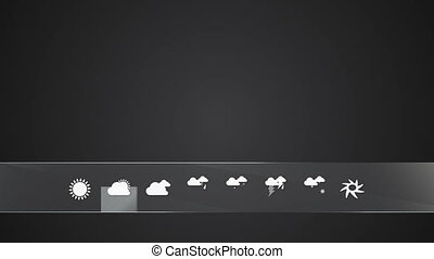 Little Cloudy, Weather icon set - Cloudy, Weather icon set...